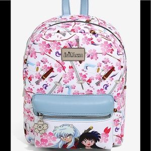 SOLD INUYASHA CHERRY BLOSSOMS LEATHER BACKPACK
